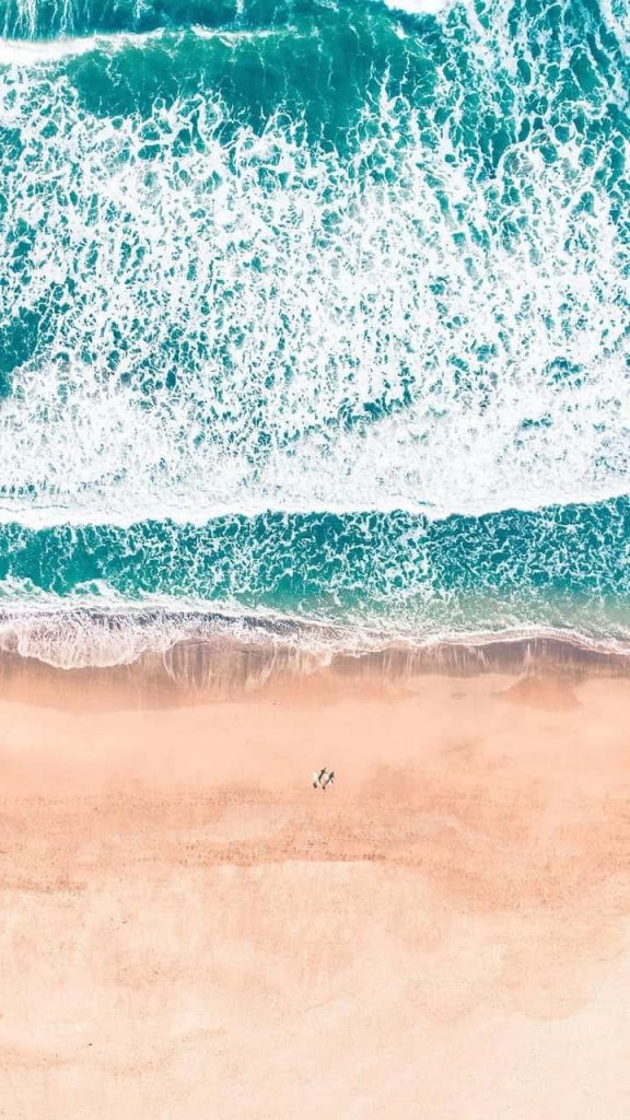 Cute wallpapers - beach shot with pastel colors
