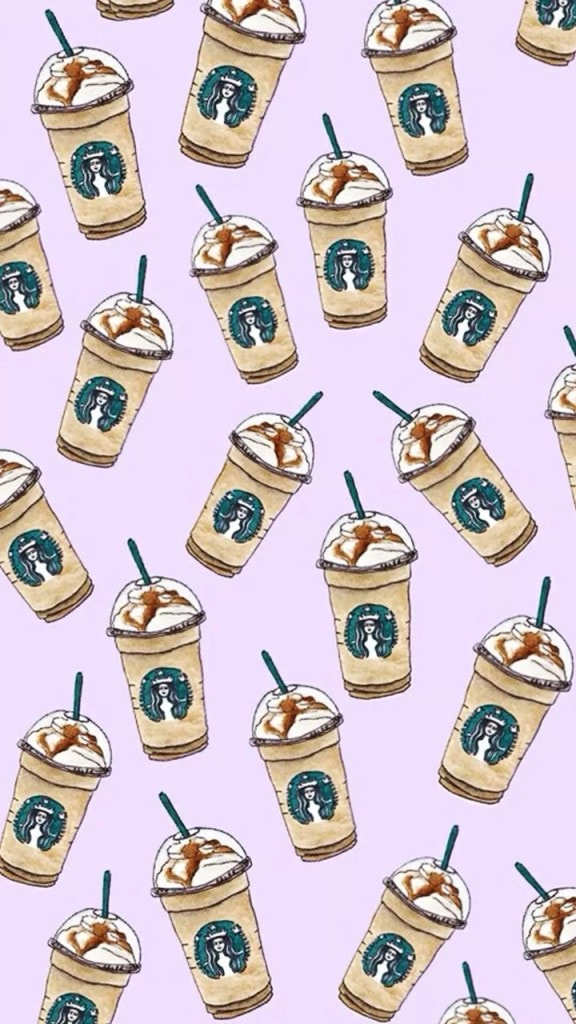 Cute iphone wallpapers with watercolored Starbucks frappuccino
