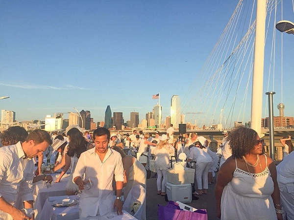 Diner en Blanc Dallas was a huge success! Check out these gorgeous photos. What a beautiful event._0003