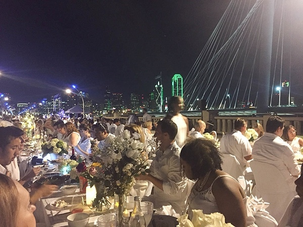 Diner en Blanc Dallas was a huge success! Check out these gorgeous photos. What a beautiful event._0017