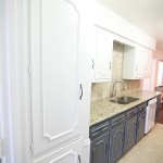 Our Navy and White Painted Kitchen Cabinets