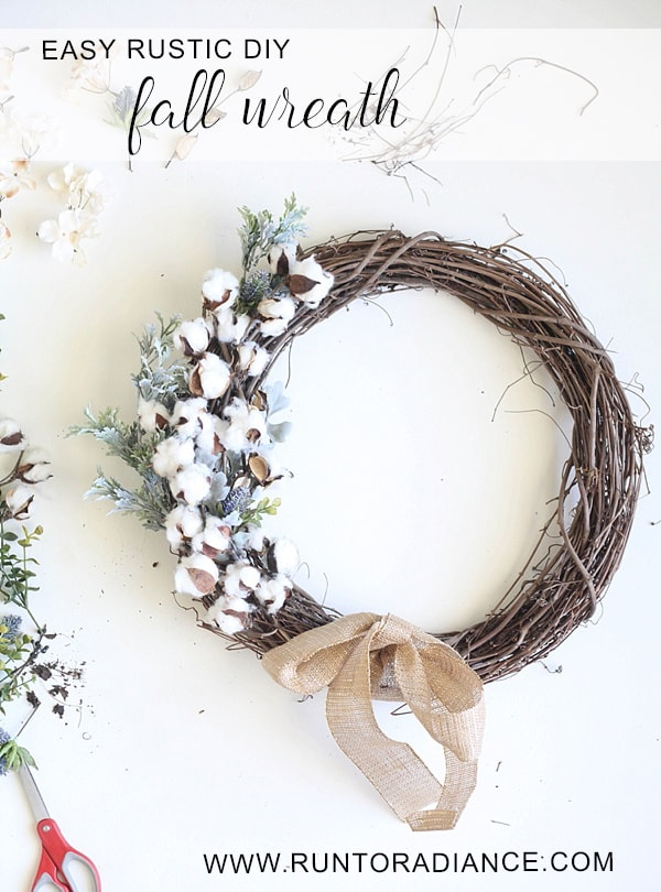 This easy DIY Fall wreath from Run To Radiance is so cute and can be put together in under an hour. Love it!