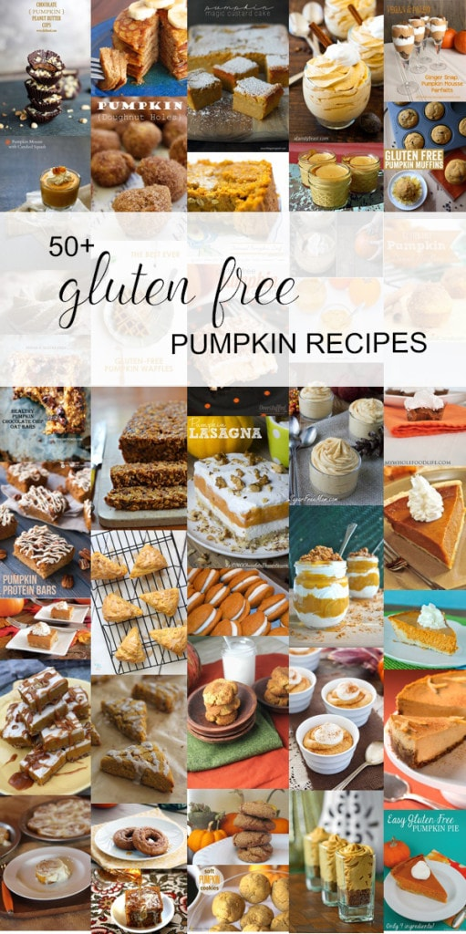 This round up of over 50 gluten free pumpkin recipes from www.runtoradiance.com is just what I was looking for!