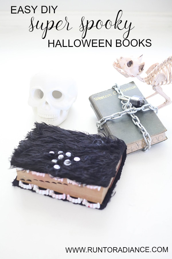 These super creepy diy halloween books are easy and so fun to make!