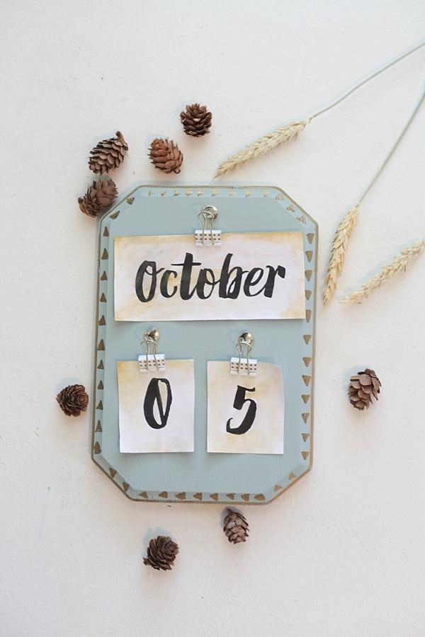 diy vintage calendar_0001