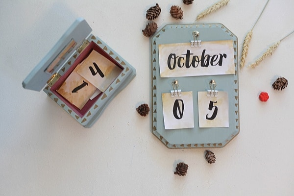 Diy Vintage Calendar : A thrifted transformation run to radiance