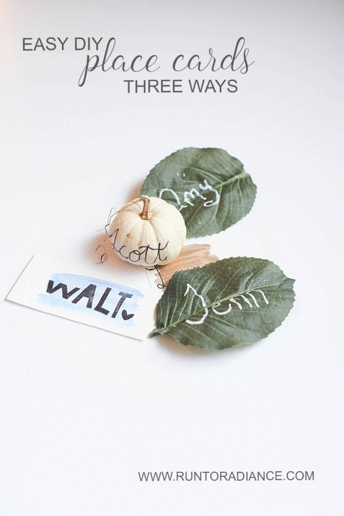 These easy DIY place cards take minutes to make, will elevate your table and make your guests feel welcome!