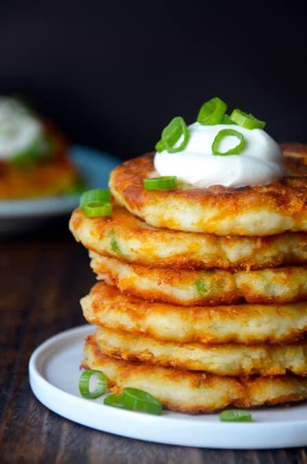 cheesy-leftover-mashed-potato-pancakes-recipe