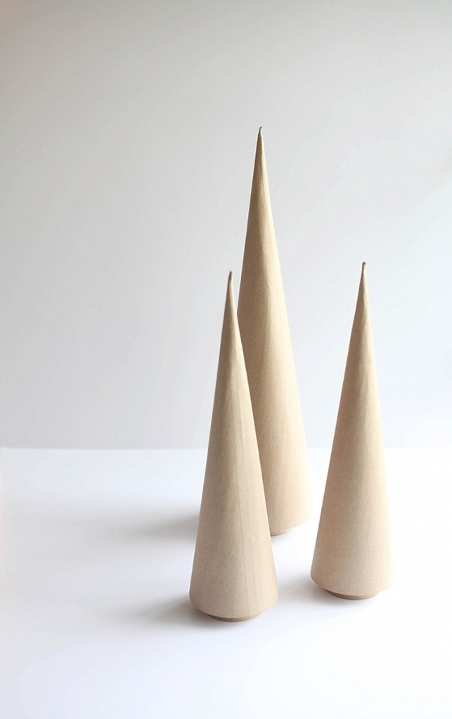 DIY Cone trees three easy ways. Perfect for Christmas!_0001