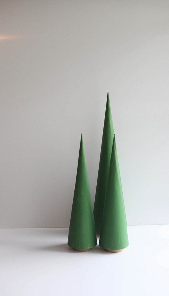 DIY Cone trees three easy ways. Perfect for Christmas!_0005