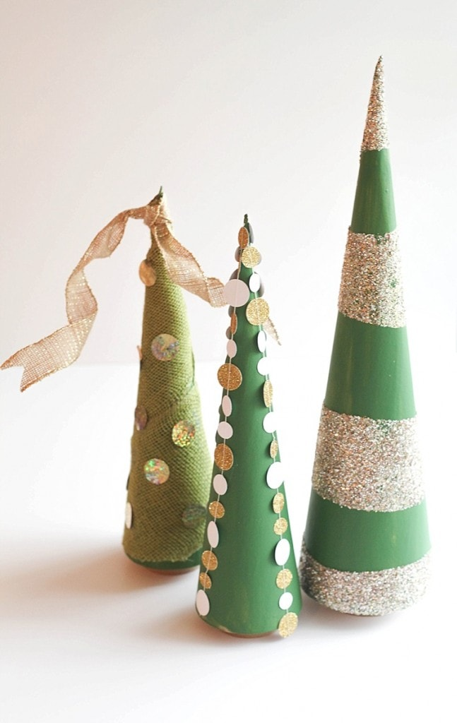 DIY Cone trees three easy ways. Perfect for Christmas!_0031