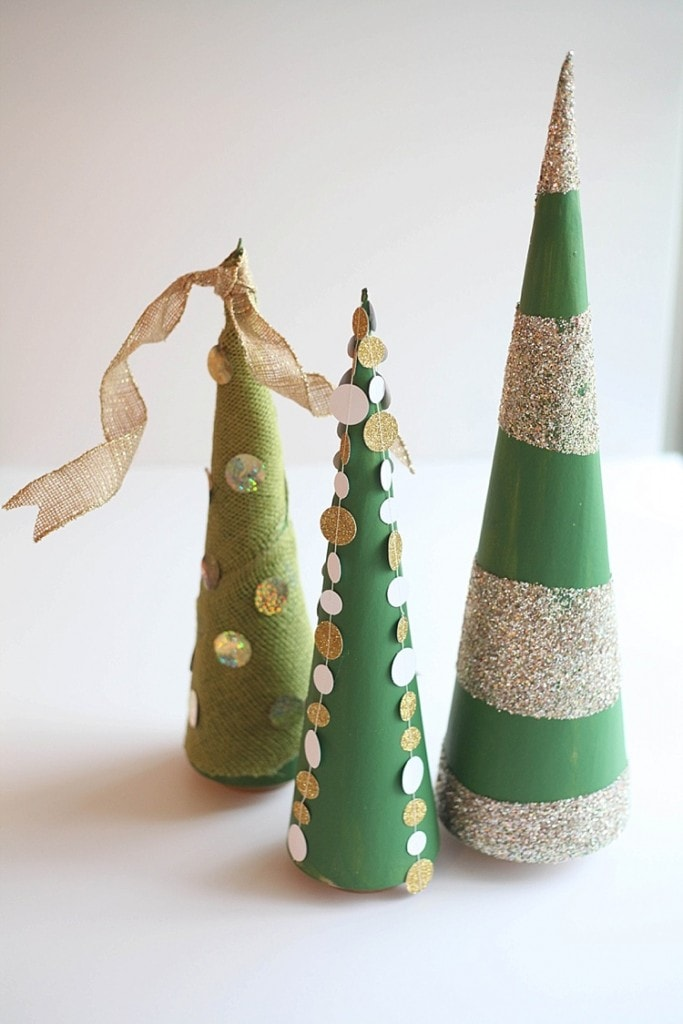 DIY Cone trees three easy ways. Perfect for Christmas!_0033