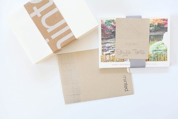 Our Christmas cards are SO cute this year! Love this gold foil option from Minted.com. Super cute!