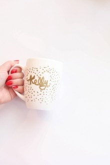 Easy DIY Personalized Mug + Gift Idea
