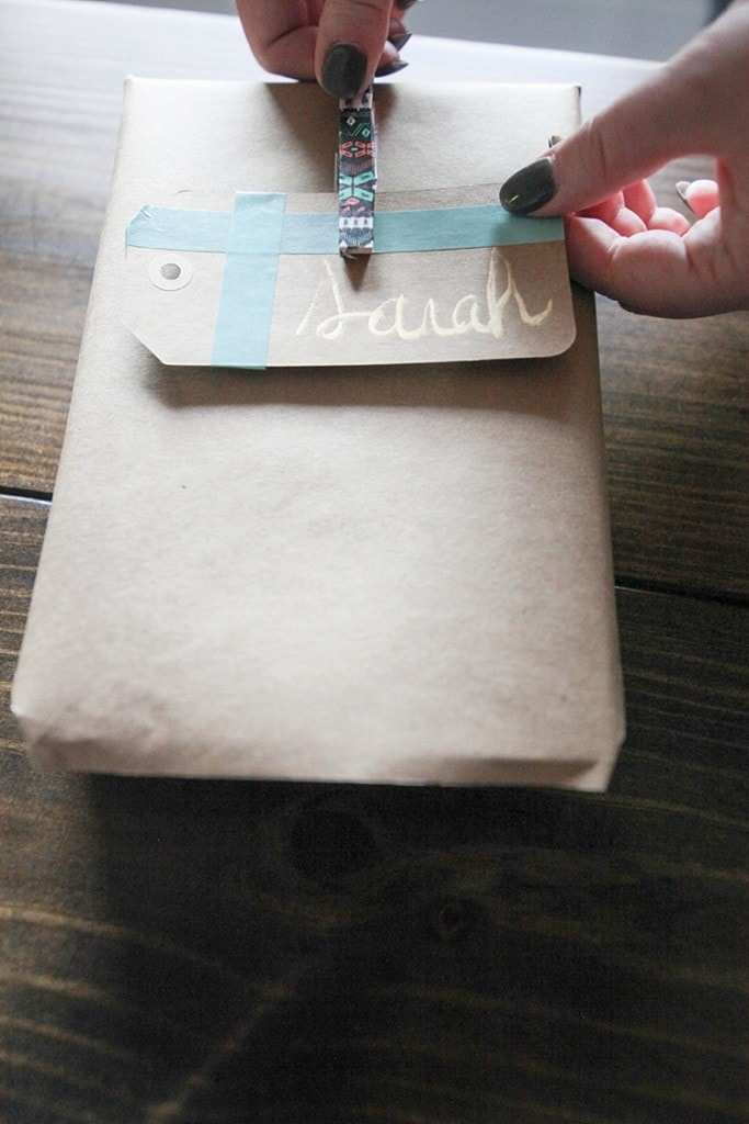 how to throw an awesome gift wrapping party and make custom gift wrapping using washi tape! Seriously so many fun and cute ideas here!_0036
