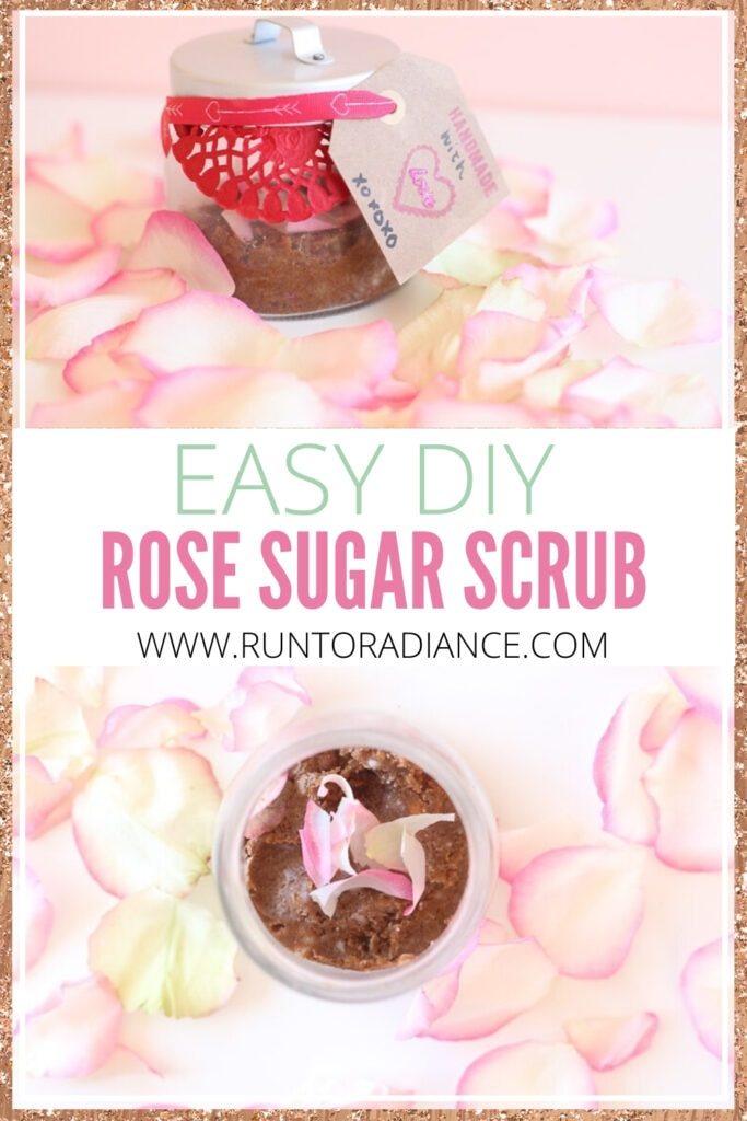 pinterest image for easy diy sugar scrub