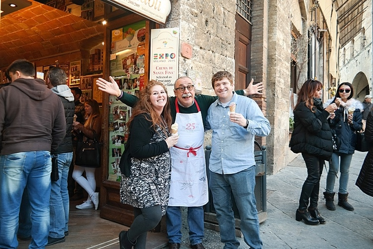 Gelateria Dondoli / world's best gelato / What to do for one day in Tuscany / San Gimignano / Tuscany, Italy