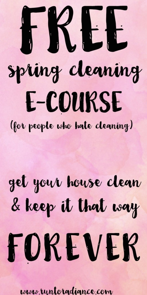 This 8- week long, free e-course is awesome!!! I just read lesson one and am so inspired! I'm tired of cleaning up every saturday, ready for a change!!