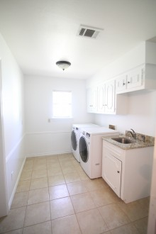 White, Bright Laundry Room Makeover- ORC Week 2