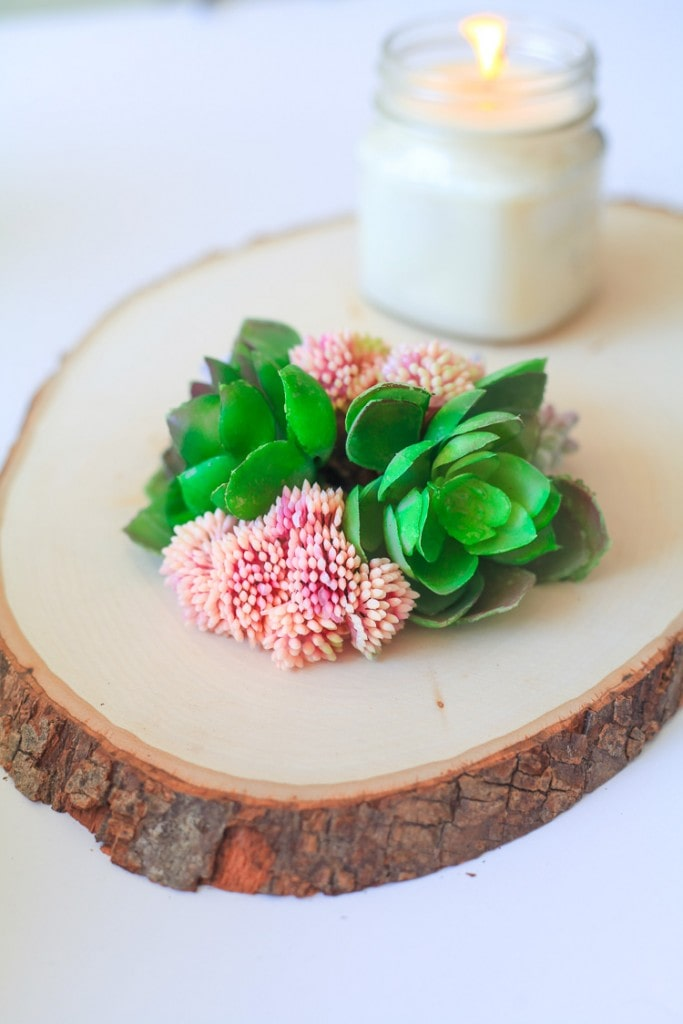 faux succulent display - this would be cute for my coffee table- or a wedding! :)