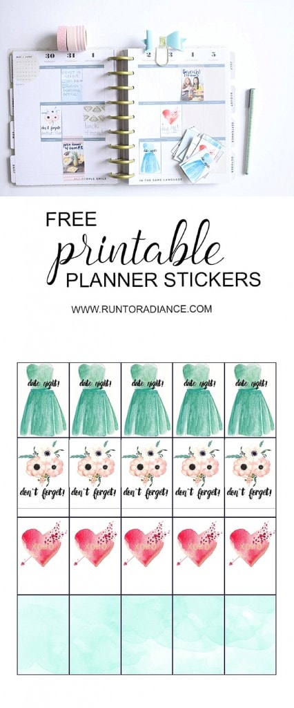 Make your own planner stickers - it's easy! Plus, enjoy free downloadable stickers! PLUS win a Canon camera, eek! #ad
