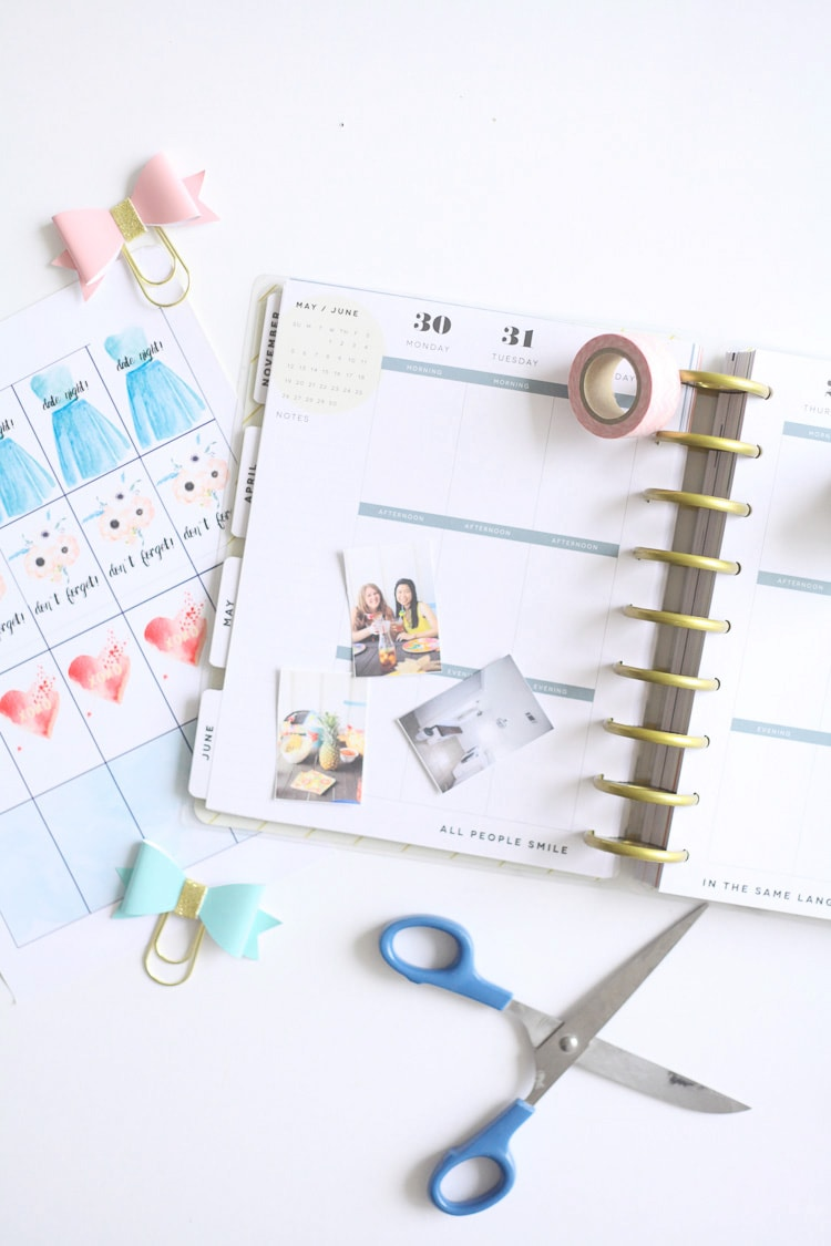 Free printable planner stickers run to radiance for Create planner online
