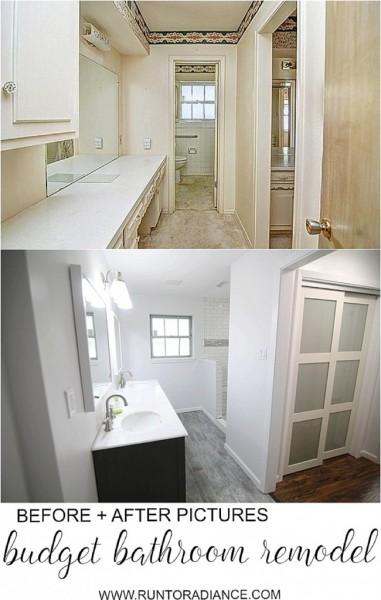 our budget bathroom makeover!