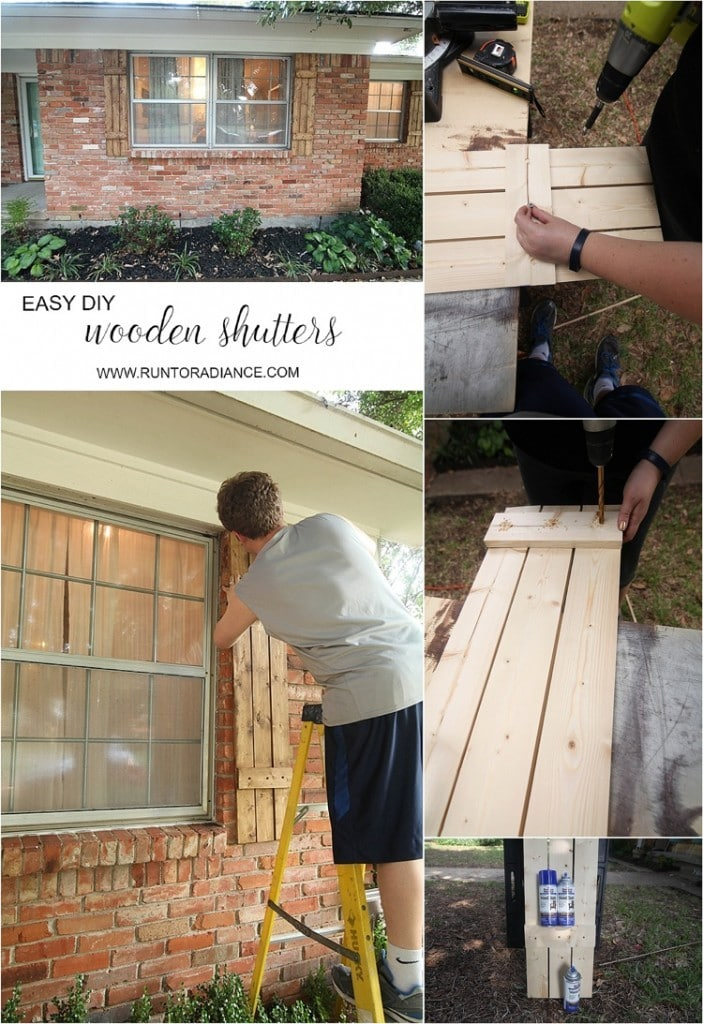 Building wood shutters is SO EASY. I am totally doing this!!