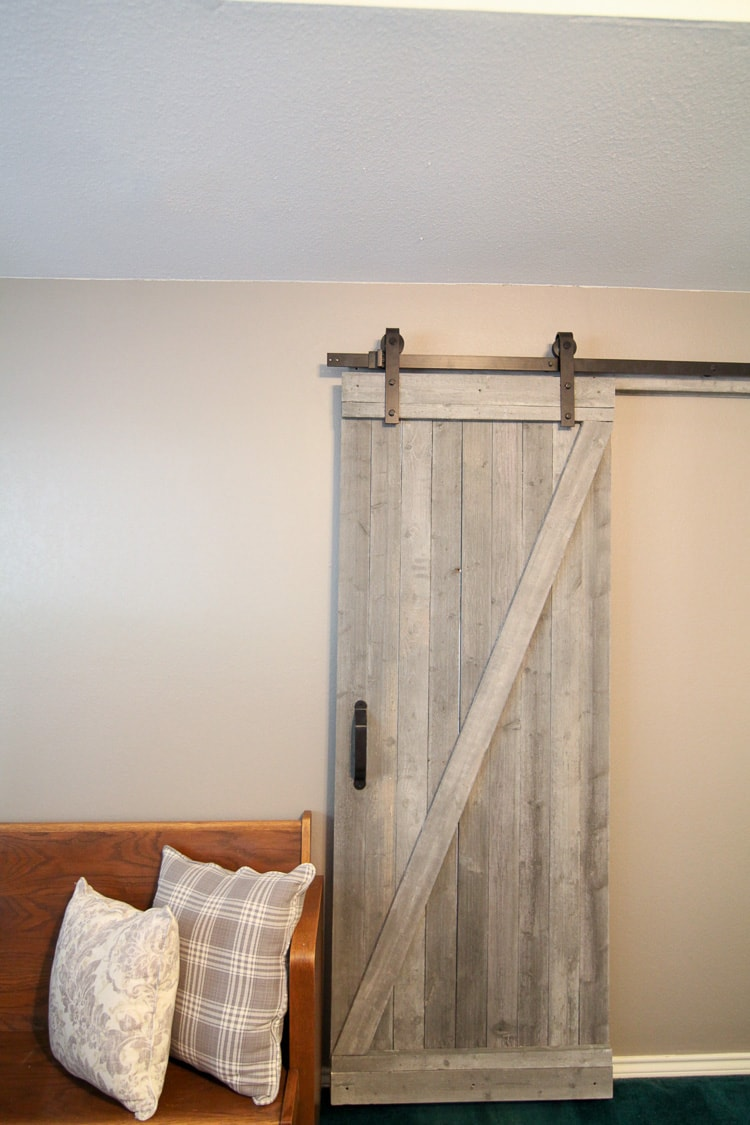 this easy to make rustic barn door is beautiful and easy to make i love