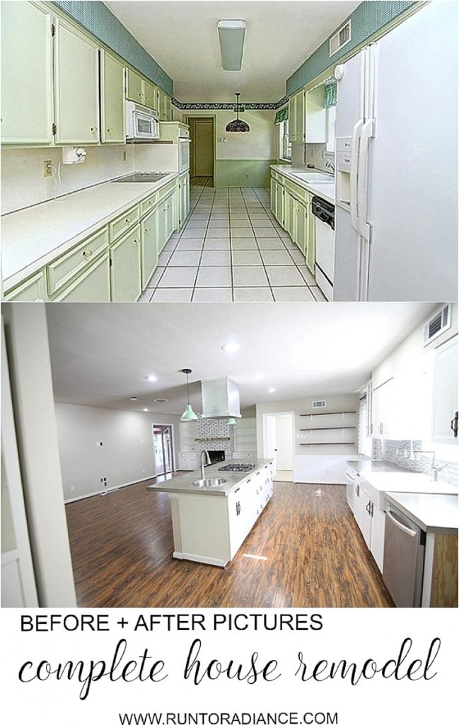 Before and after pictures of a complete house flip! These are CRAZY.