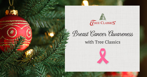 They decorated their Christmas tree all in pink this year for breast cancer awareness. I absolutely love this idea.