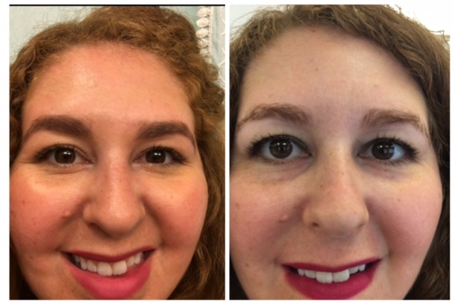 Whole30 before and after pictures! She lost over 16 pounds in 30 days and has hypothyroid. This is awesome for Hashimotos weight loss!