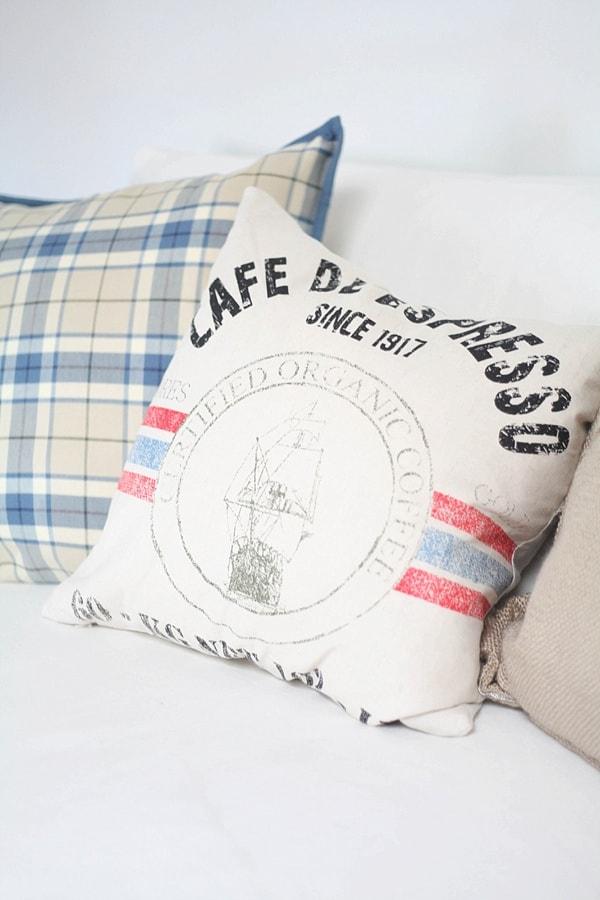 close up of throw pillows