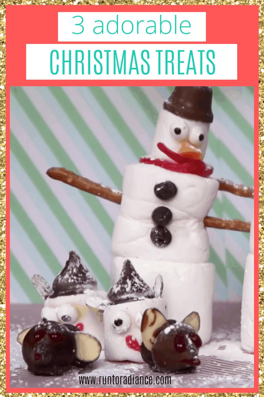 candy snowmen, marshmallow elves, chocolate mice