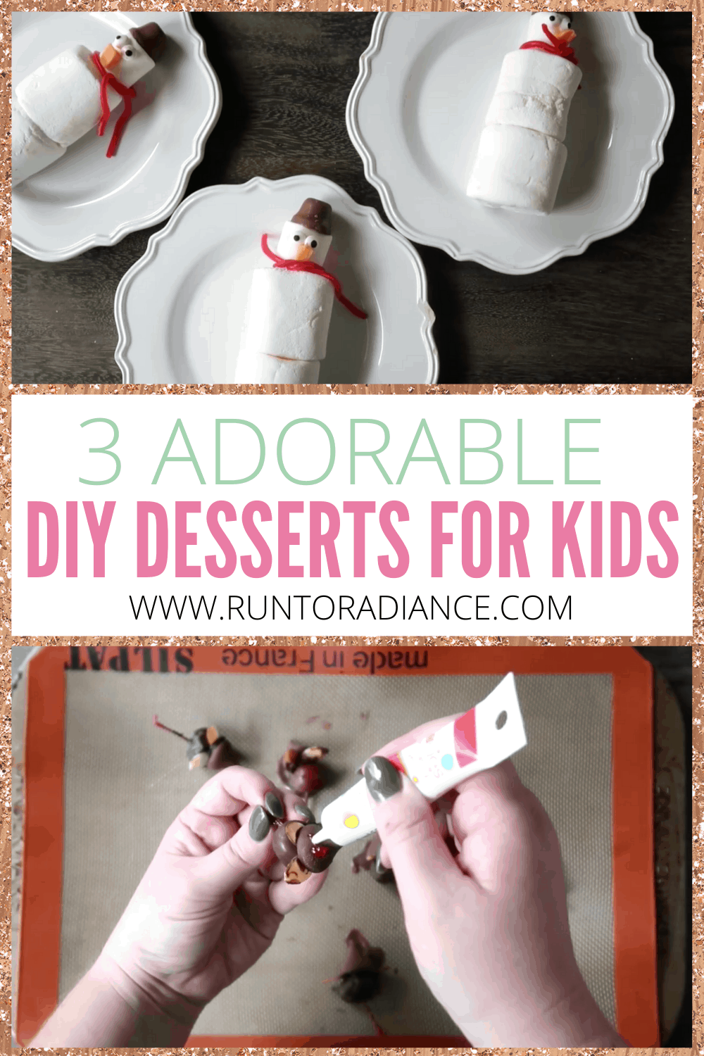 Yummy marshmallow and chocolate winter desserts for kids