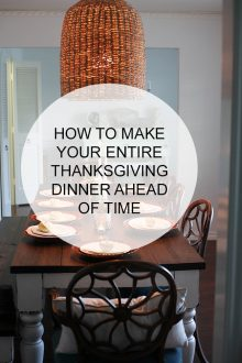 Make Ahead Thanksgiving Dishes