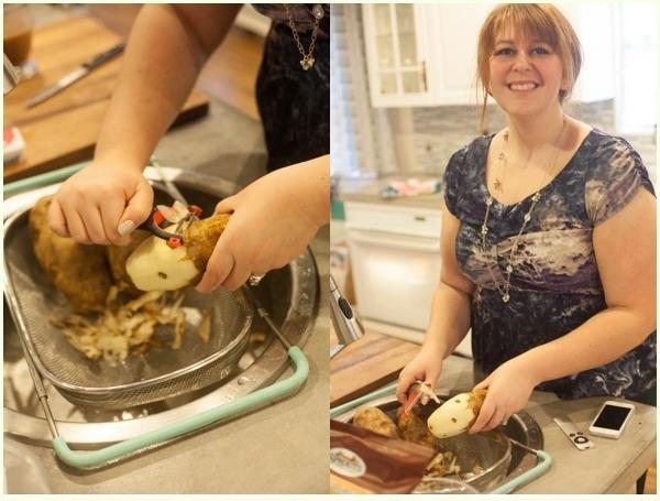 Peeling potatoes - how to make Thanksgiving recipes ahead of time