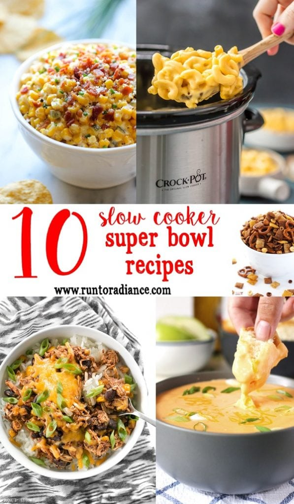 These 10 super bowl recipes look amazing...and bonus- they can all be made with slow cookers! i've been looking for slow cooker super bowl recipes - jackpot!
