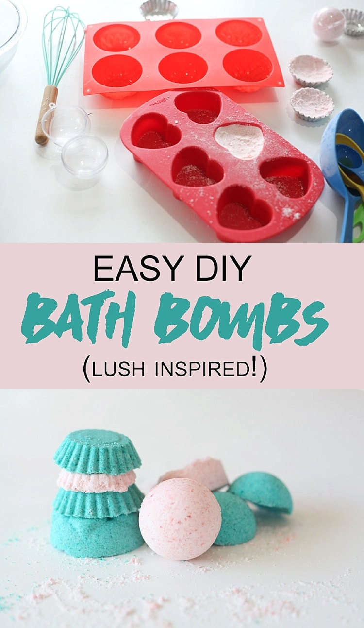 LUSH BATH BOMB DIY! These easy diy bath bombs are awesome and took just a few minutes to make! They smell so good thanks to essential oils… they are just as good as the ones at Lush! I love bath bombs!