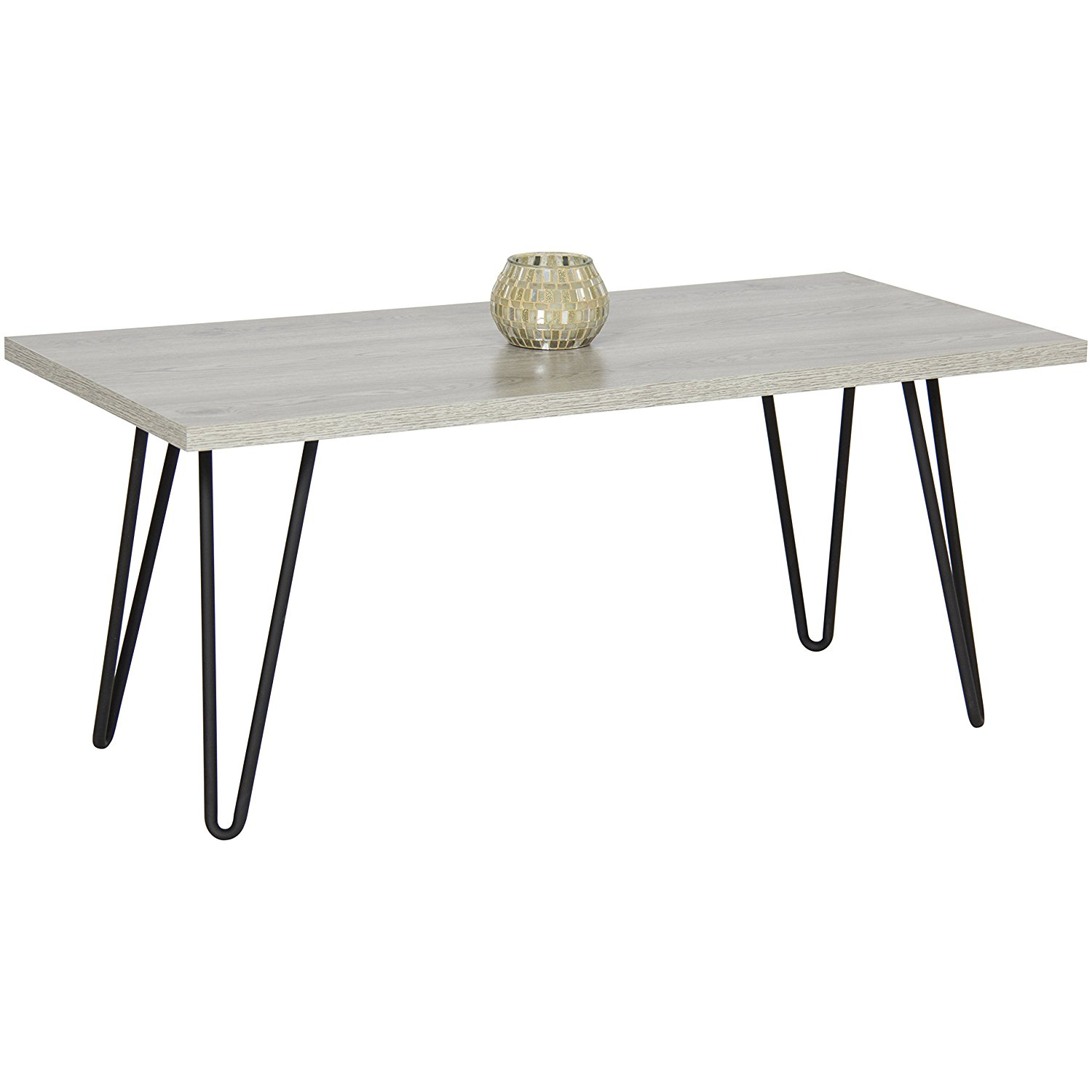 Cheap coffee tables under 100 that work for every style for Cheap hairpin legs