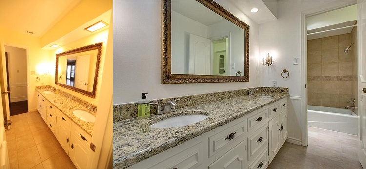 House remodel on a budget! These before and after pictures are amazing and full of DIY ideas. I really like this budget bathroom makeover.