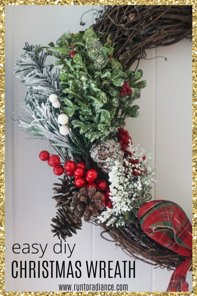 Easy Diy Christmas Wreath How To Make A Grapevine Christmas Wreath