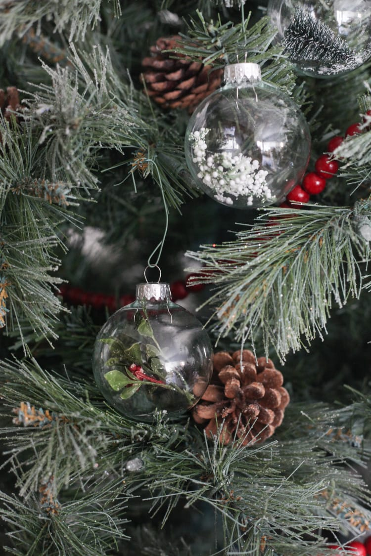 Easy DIY Christmas Tree Ornaments to Make with Clear Ornaments