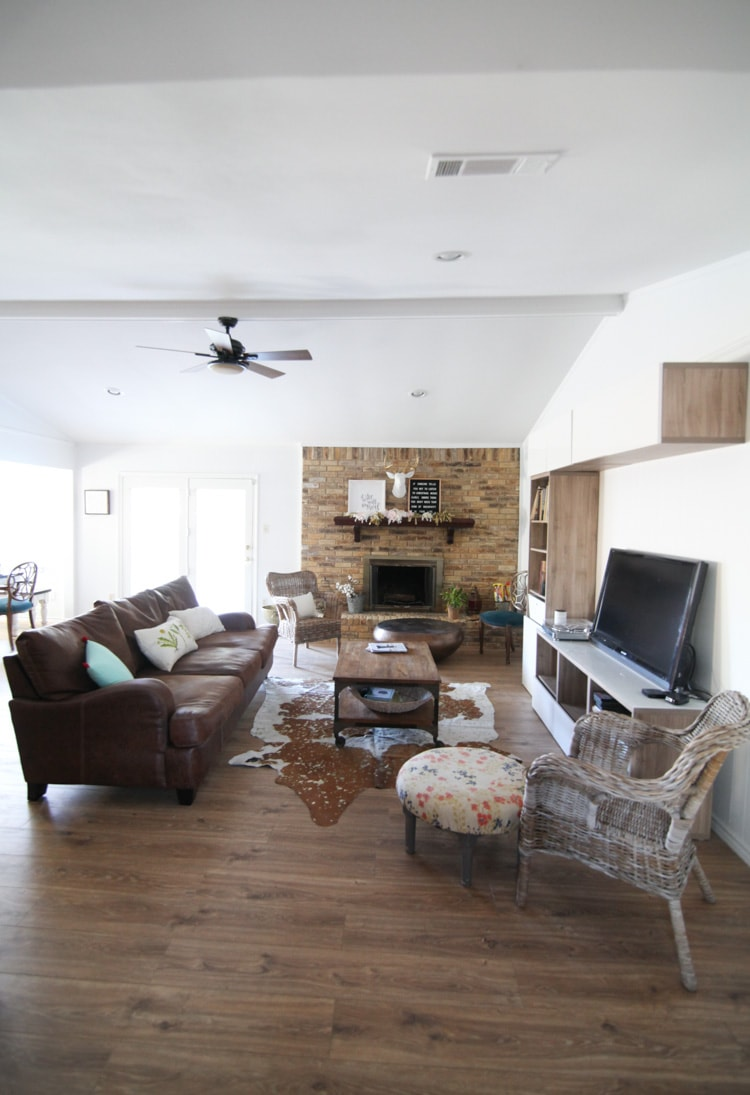 Ranch Style Living Room Before and After Pictures - Makeover on a ...