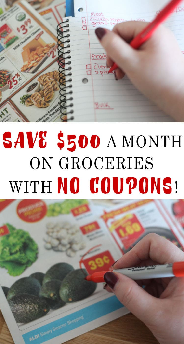 So helpful!! How to save money on groceries without coupons – healthy eating on a budget! I'm encouraged to start meal planning and set a grocery budget – she saved $500 a month and mainly bought healthy groceries so she could still eat healthy groceries on a budget!