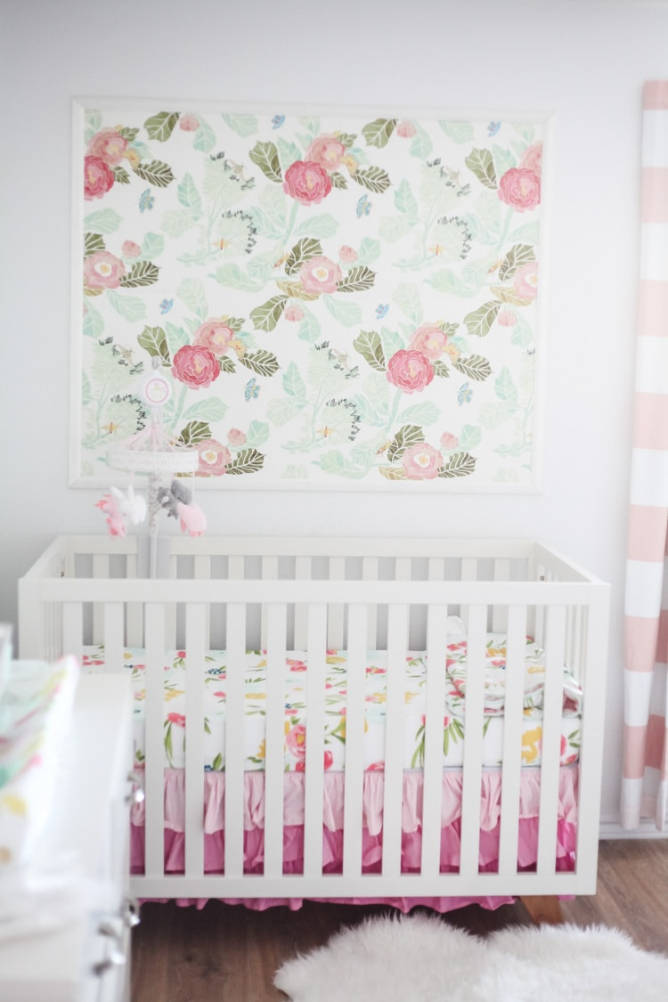This Framed Wallpaper In The Nursery Is So Cute Such A Smart Idea For What