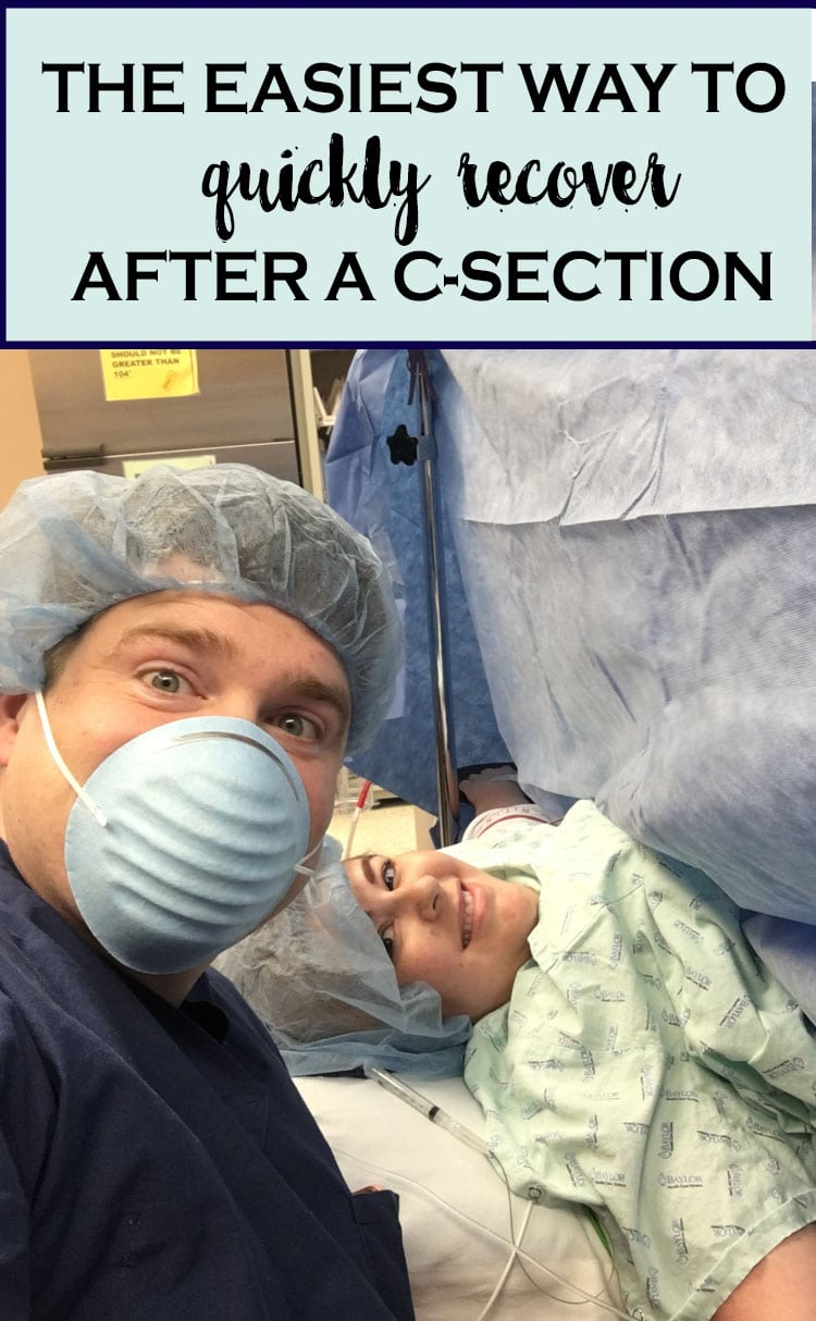 couple in delivery room during a c-section
