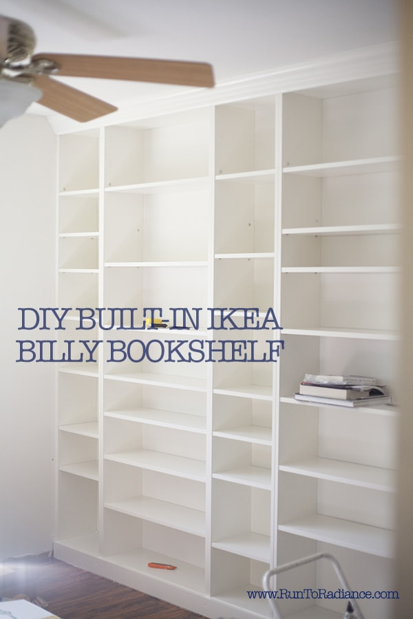I am dying to have a built in bookshelf for my collection, and this post shows you how to do an ikea hack with a billy bookcase to make it look built in. Genius!