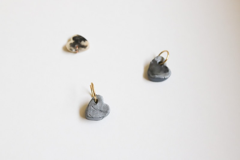 clay hearts with jump ring