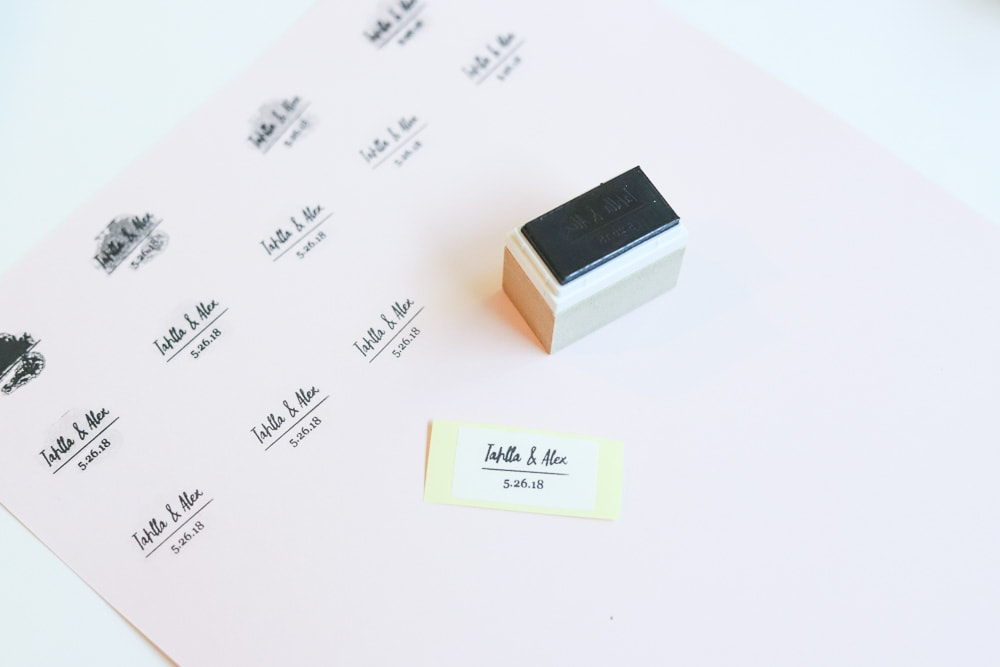 stamped pink paper